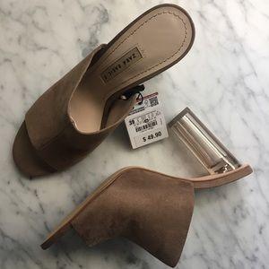 Zara Lucite Heel Sz 8